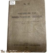 Voorschrift no 33 Verzameling van Pionier technische gegevens