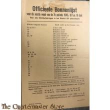 Officieele bonnenlijst 1e week 7e per 10-16 juni 1945