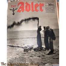 Zeitschrift Der Adler heft 22 , 27 okt 1942  (Magazine Der Adler no 22, 27 oct 1942)