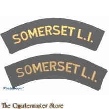 Shoulder flashes Somerset Light Infantry (Prince Albert's)
