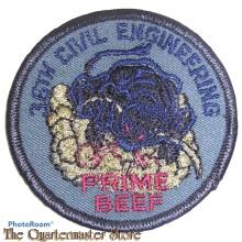 """Badge 36th  Civil Engineering """"Prime Beef"""" USAF"""