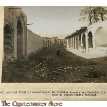 Press photo , front of Mesopotamia,, Bazars of Kanikin , destroyed by the Turks