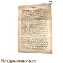 "Krant ""de Accu"" zondag 29 april 1945"