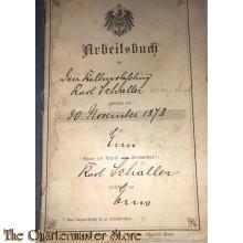 Arbeitsbuch 1897 Germany