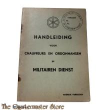 Handleiding voor chauffeurs en Ordonnansen in Militairen Dienst 1940