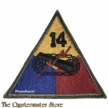Mouwembleem 14th Armored Division (Sleevebadge 14th Armored Division)