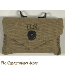 WWII US Army M1942 First Aid Kit Canvas Pouch w Carlisle Bandage