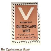 Sluitzegel NSB V beteekent Duitschland wint, voor Europa op alle fronten