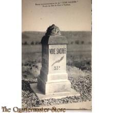 Postcard 1918 Voitre Sacree route de Bar-le-Duc a Verdun