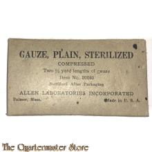 Gauze, plain sterilized US Army WW2