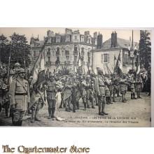 Postcard , 1918 Orleans, les fetes de la Victorie , Le retour du 131e d'infanterie, de reception de Troupes