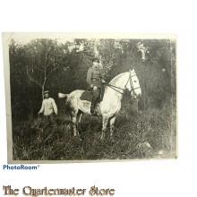 Photo Unser Feldwebel mit Pferd 1915