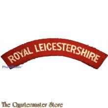Shoulder flash Royal Leicestershire Regiment