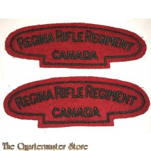 Shoulder flashes Regina Rifle Regiment of Canada,  3rd Canadian Division