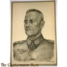 Postkarte Generaloberst Halder