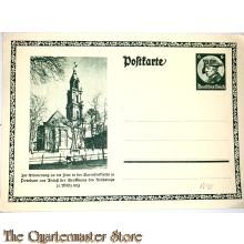 Postkarte Zur Erinnerung an die Feier der Garnizonkirche zu Potsdam aus Anlass der Eröffnungdes Reichstags 21 März 1933