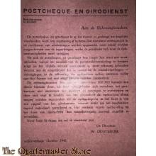 Flyer Postcheque- en Girodienst vertragingen betalingen Den Haag 1943