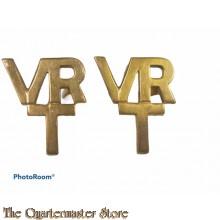Shoulder titles Officers Volunteer Reserve Training VRT (brass)