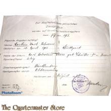 Polizeiliches zeugnis 1928
