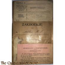 Oorlogszakboekje Regiment Grenadiers Depot Batt Grenadiers Staf Reg Bureau