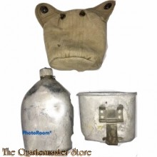 US Veldfles M1910 met hoes en cup (Canteen M1910 with cover and cup)