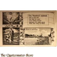 Ansichtkaart mobilisatie 1914 Ons Nederland neutraal