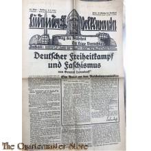 Wochenzeitschrift Ludendorffs Volkswarte Berlin 02-07-1933