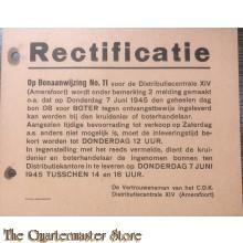 Rectificatie bonaanwijzing 11 Boter 7 juni 1945