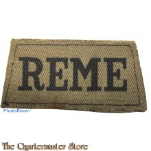 Slip-on Royal Electrical and Mechanical Engineers  (R.E.M.E.) canvas