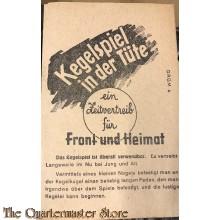 Kegelspiel in der Tüte WW2, ein Zeitvertreib für Front und Heimat (Paper bag for games Front or Home WW2)