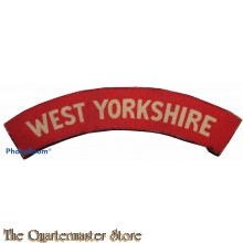 Shoulder flash West Yorkshire Regiment (canvas)