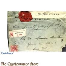 Aangetekende briefomslag Kamp Zeist 1915 (Militaire censuur)