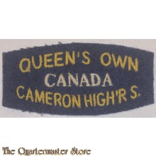 Shoulder flash Queens own Cameron Highrs, 3rd Canadian Division