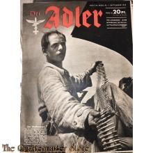 Zeitschrift Der Adler heft 18 ,1 sept 1942  (Magazine Der Adler no 18 ,1 sept 1942)