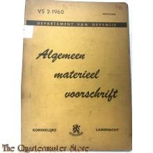 Voorschrift no 2-1960 Algemeen Materieel Voorschrift