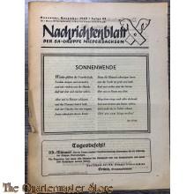 Nachrichtenblatt der SA gruppe Niedersachsen 1943