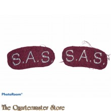 Shoulder title set S.A.S. Special Air Service