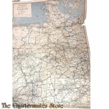 Ubersichtskarte zum Reichsbahn Kursbuch fur die Britische Zone 1946/1948