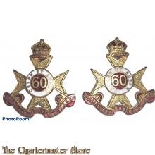 Collar badges 60th Inf Bat (The Heidelberg Regiment)