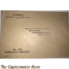 Dienst Enveloppe no 1104 Nederlandsche Arbeids Dienst