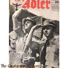 Zeitschrift Der Adler heft 20 28 sept 1943 (Magazine Der Adler no 20, 28 sept 1943)