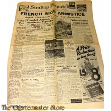 Newspaper,  Sunday Dispatch, 139th year, no 7234  june 23 1940