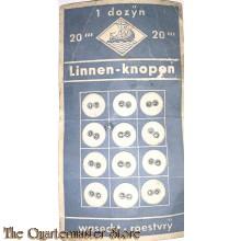 Dozijn Linnen knopen LECO 1940 (12 Linnen buttons LECO 1940)