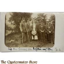 (Feld) Postkarte WK 1 Soldaten und frau  Hochzeit 11/5/1916
