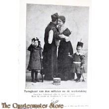 Prent briefkaart 1905 Terugkeer van den Milicien na den staking