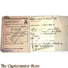 Geleide biljet 50 kg suiker 1940