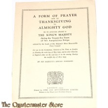 Booklet 1935  A form of prayer and of Thanksgiving