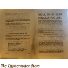 Bolsjewistische massamoord (Brochure, 4 blz., Oktober 1941)