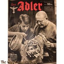 Zeitschrift Der Adler heft 2 , 20 jan 1942  (Magazine Der Adler No 2 , 20 jan 1942)