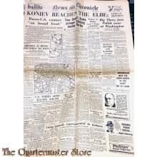Newspaper, News Chronicle no 30.869 Tuesday april 24, 1945